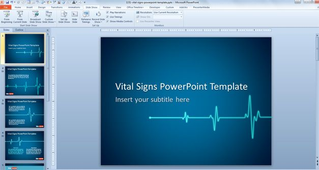 Free Vital Signs Animated PowerPoint Template