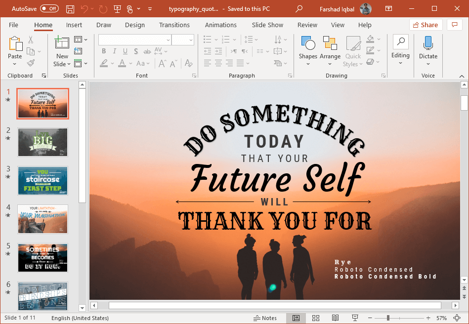 animated quotes powerpoint template