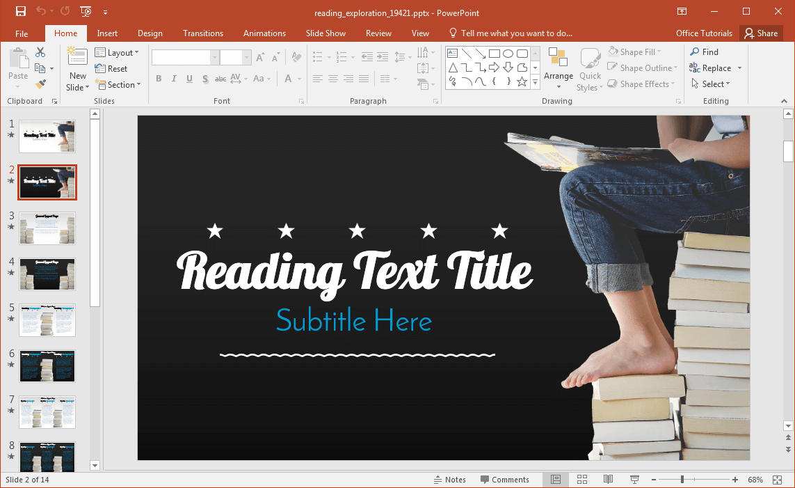 animated-reading-powerpoint-template