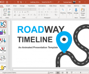 animated road timeline for powerpoint
