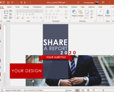 Animated Make a Report PowerPoint Template