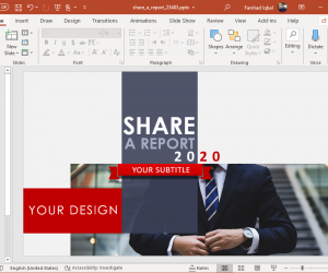 animated share a report powerpoint template