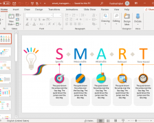 Animated SMART Objectives PowerPoint Template