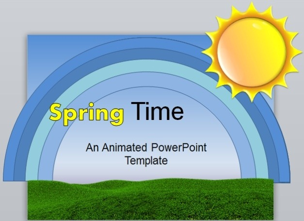 animated spring time powerpoint template