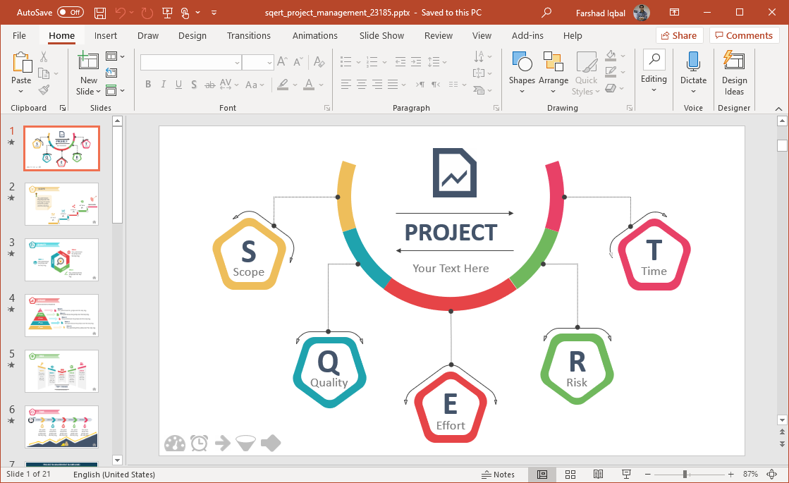 animated sqert powerpoint template