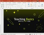Animated Teaching Basics PowerPoint Template