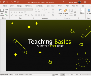 Animated teaching basics PowerPoint template