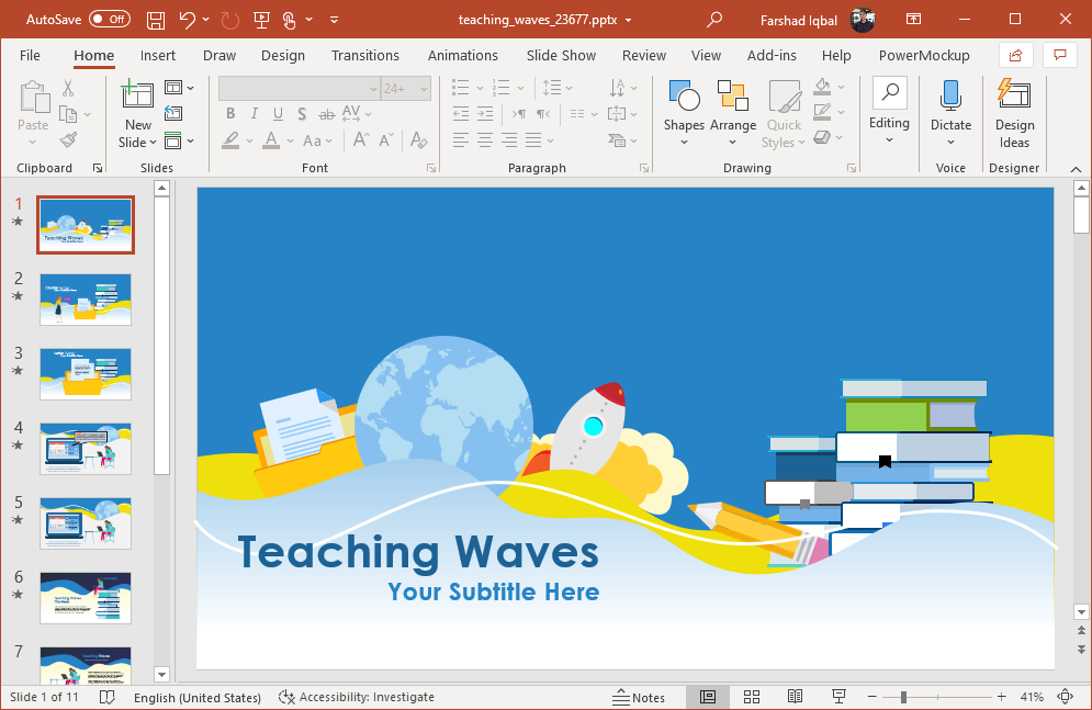 animated teaching powerpoint template