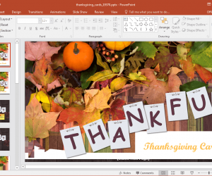 Animated Thanksgiving Cards PowerPoint Template