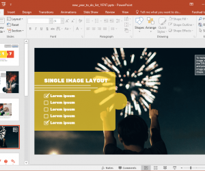 Animated PowerPoint New Year To Do List Template