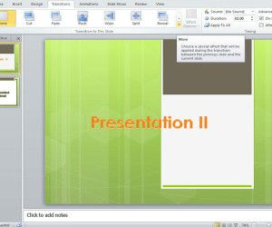 How to add Animated Transitions to PowerPoint Slides