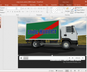Transport Truck Video Background Template for PowerPoint