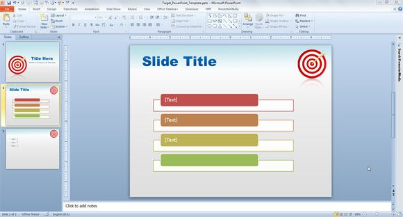 Free Target PowerPoint Template