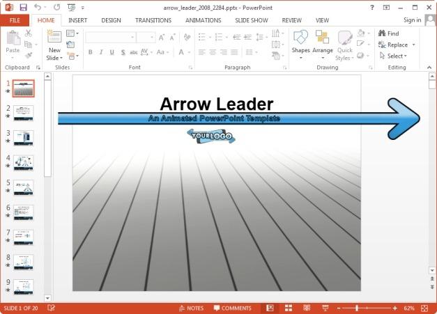 Arrow leader PowerPoint template