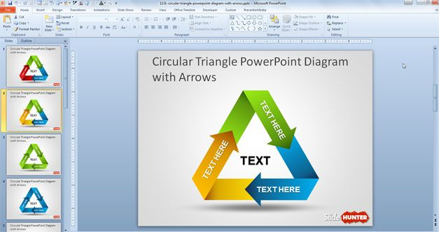 original arrows diagram for PowerPoint presentations