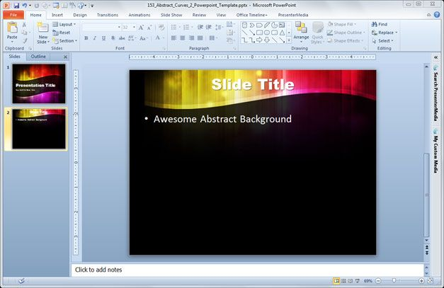 abstract ppt templates background with colors