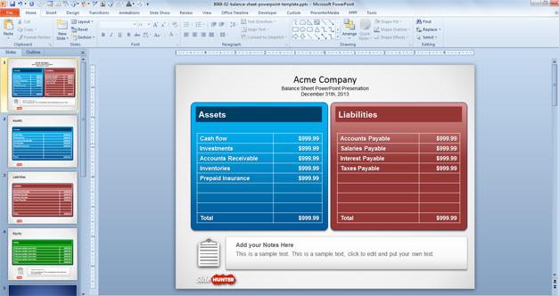 Free Balance Sheet Powerpoint Template Free Powerpoint