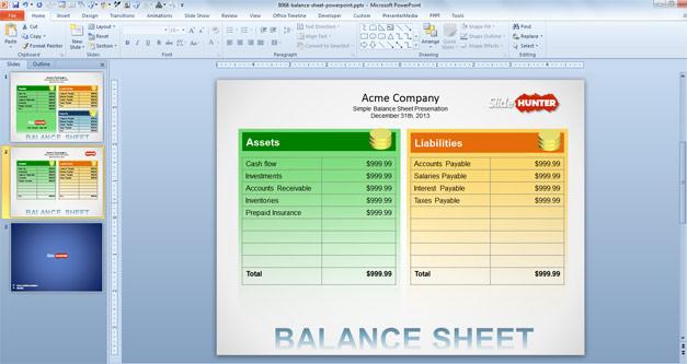 balance sheet example – Basic Balance Sheet Example
