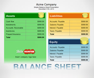 Simple Balance Sheet Template for PowerPoint