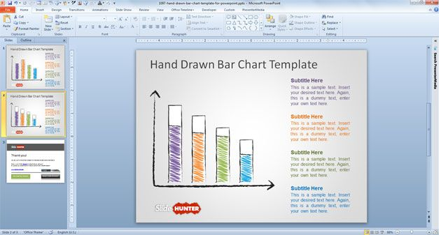 free bar chart template powerpoint