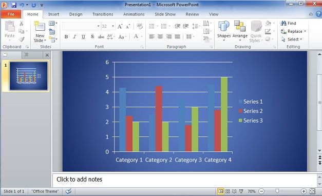 How to Make Bar Graphs in PowerPoint 2010 using Excel Data