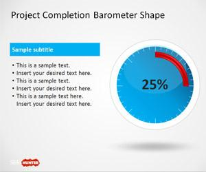 Project Completion Barometer Shapes for PowerPoint