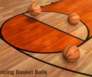 Animated Basketball Court Template For PowerPoint