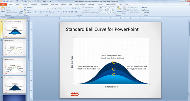Standard Bell Curve Template for PowerPoint