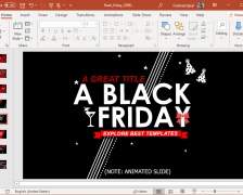 Animated Black Friday PowerPoint Template