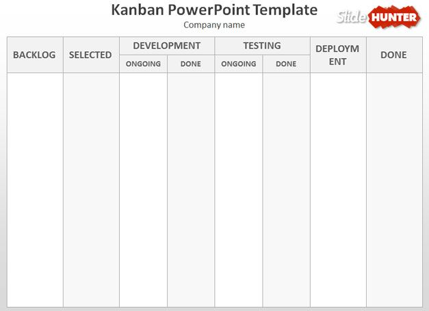 template kanban gratis para PowerPoint