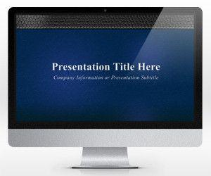 Widescreen Blue Business PowerPoint Template (16:9)