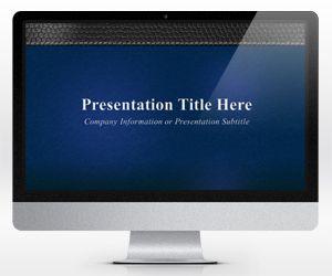 Widescreen Blue Business PowerPoint Template (16:9)