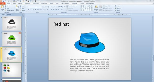 debono six thinking hats powerpoint template