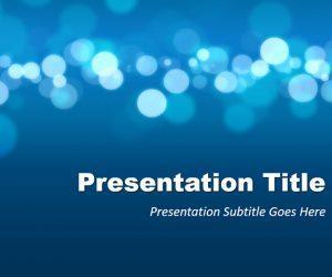 Business Blur Background PowerPoint Template