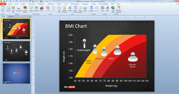 Free BMI Chart template for men