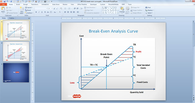 Break Even PowerPoint template