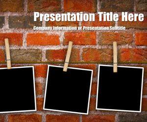 Plantilla PowerPoint de Fotos sobre Fondo de Ladrillos