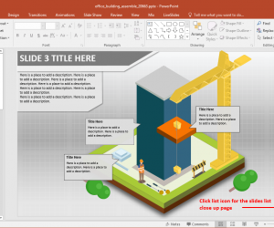 Office Building Construction PowerPoint Template