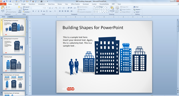 Office Building Shapes for PowerPoint