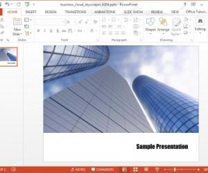 Business Cloud Skyscraper Video PowerPoint Template