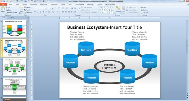 Business Ecosystem Actors PowerPoint Template