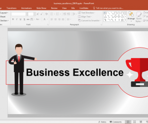 Animated Business Excellence PowerPoint Template