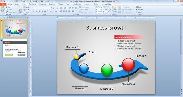 Plantilla PowerPoint con Diagrama Circular 3D