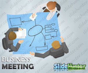 Business Meeting Illustration for PowerPoint