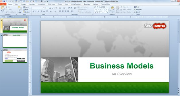 Free Corporate Business Powerpoint Template 16 9 Free