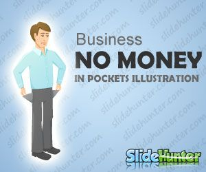 No Money Cartoon for Business