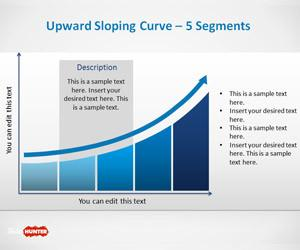 Upward Sloping Curve Template for PowerPoint