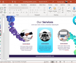 Animated Cascading Bubbles PowerPoint Template