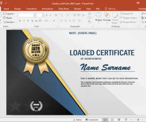 Animated Certificate Design PowerPoint Template
