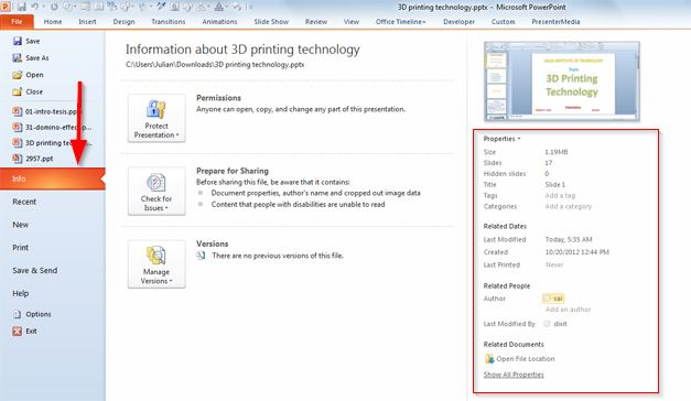 How to Change the Presentation Author in Microsoft PowerPoint 2010
